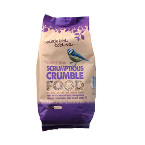Image for Scrumptious Crumble Bird Food  1kg from Pets At Home