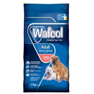 Image for Wafcol Adult Small and Medium Breed Salmon and Potato Dog Food 2.5kg from Pets At Home