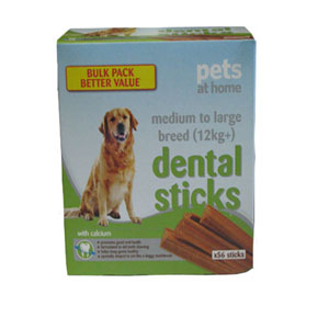 Image for Dental Sticks Large 56 pack from Pets At Home