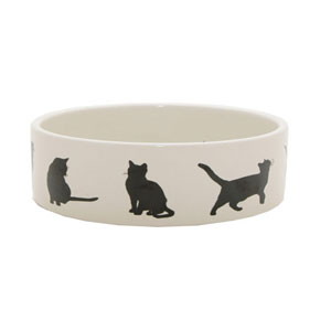Image for Silhouette Cat Bowl from Pets At Home