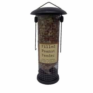 Image for Filled Metal Peanut Feeder from Pets At Home