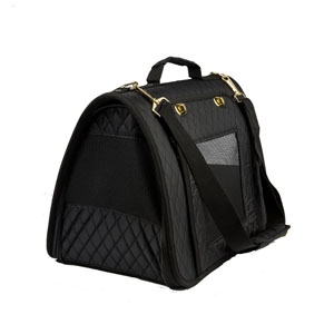 Image for Black Quilted Carrier from Pets At Home