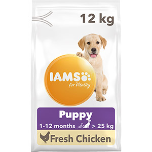 Image for Iams ProActive Health Puppy/Junior Large Breed 12kg from Pets At Home