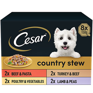 Image for Cesar Country Kitchen Favourites Tray 8 x 150g from Pets At Home