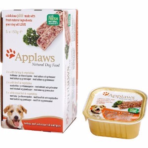 Image for Applaws Dog Pate Multi Pack Fresh Selection Turkey, Beef and Ocean Fish 5 x 150g from Pets At Home