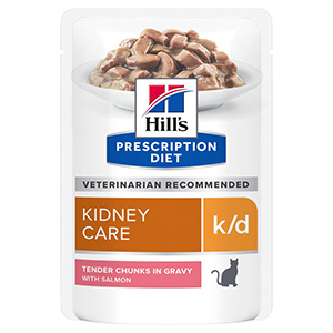 Image for Hills Prescription Diet k/d Feline Pouch with Salmon 12 x 85g (Online Only) from Pets At Home