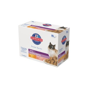 Image for Hills Science Plan Feline Healthy Ageing Senior Mix Selection Pack 12 x 85g (Online Only) from Pets At Home