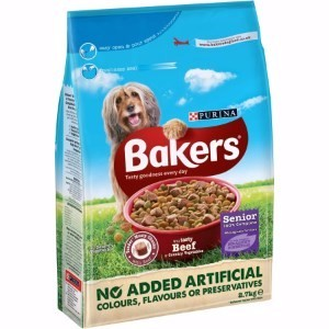 Image for Bakers Complete Senior Beef and Rice 2.7kg from Pets At Home