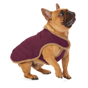Image for Repelz-It Nanosuede Quilted Coat Plum Small from Pets At Home
