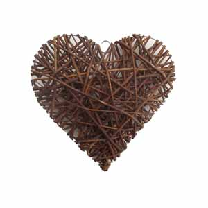 Image for Woodlands Large Willow Heart from Pets At Home