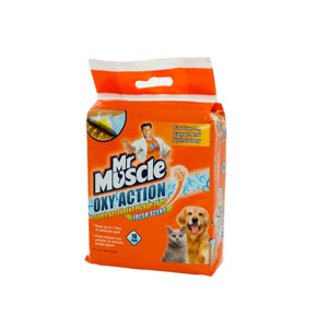 Image for Mr Muscle Oxy Action Pickup Pads Fresh 10 Pack (Online Only) from Pets At Home