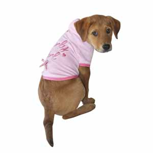 Image for Wag-A-Tude Girly Velor Hoodie X Small from Pets At Home