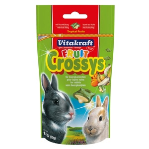 Image for Vitakraft Fruit Crossys Rabbit Treats 50g (Online Only) from Pets At Home