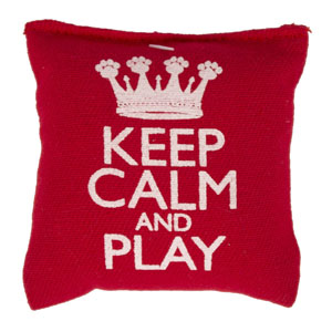 Image for Keep Calm Cat Nip Pillow (Online Only) from Pets At Home