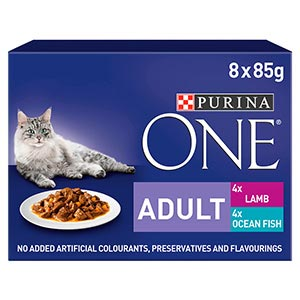 Image for Purina One Adult Wet Fish Ocean Fish and Lamb from Pets At Home