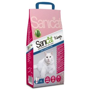 Image for Sanicat 7 Days with Aloe Vera 4 Litre Non Clumping Cat Litter from Pets At Home