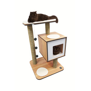 pets furniture. Image For Vesper VBase Walnut Effect Cat Furniture And Activity Centre From Pets At
