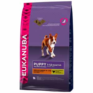 Image for Eukanuba Puppy and Junior Medium Breed with Chicken from Pets At Home