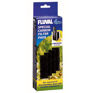 Image for Fluval 4+ Underwater Filter Carbon Pads 4 Pack from Pets At Home