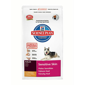 Image for Hill's Science Plan Sensitive Skin Adult Dog Food with Chicken 3kg from Pets At Home