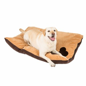 Image for Tan Corner Bone Print Dog Doza (Online Only) from Pets At Home