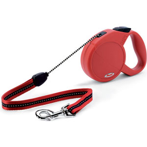 Image for Red Classic Long Extending Dog Lead from Pets At Home