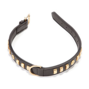Image for Bull Terrier Black Leather Dog Collar from Pets At Home