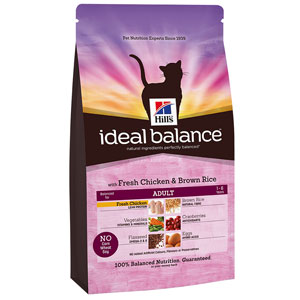 Image for Hills Ideal Balance Feline Adult with Fresh Chicken from Pets At Home