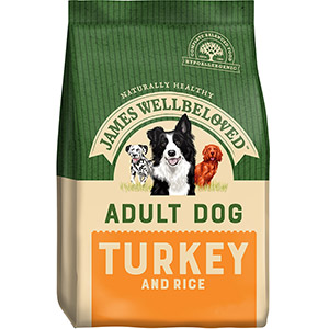 Image for James Wellbeloved Adult Complete Dog Food with Turkey & Rice from Pets At Home