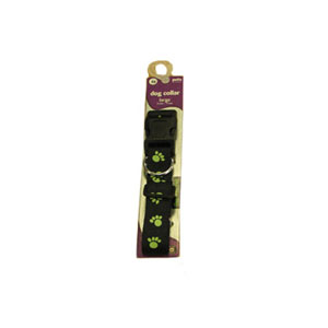 Image for Glow in Dark Paw Dog Collar from Pets At Home