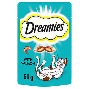 Image for Dreamies with Scrumptious Salmon Cat Treats from Pets At Home