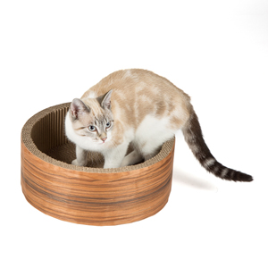 Image For Willowu0027s Round Cardboard Scratcher Cat Toy From Pets At Home
